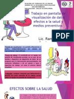 Trabajo en Pantalla de Visualización de Datos Efectos