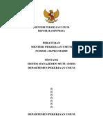 permenpu04-2009sistemmanajemenmutu
