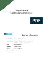 Company Profile Exzatech