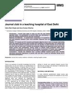Journal club in a teaching hospital of East Delhi