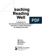 book titled teaching reading well