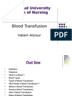 Blood Transfusion - Hatem