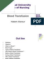 Blood Transfusion - Hatem