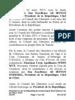 Communiqué Final du Conseil des Ministres du 20 Mars 2015