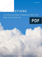 WP - 13 Questions You Must Ask When Integrating Office 365 With Active Directory[1]