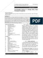 Development of User-Friendly Software to Design Dairy Heat Exchanger and Performance Evaluation