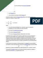 El Cálculo Del Caudal de Agua Viene Expresado Por La Ecuación de Continuidad