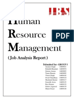 Job Analysis Report of an Engineering Firm