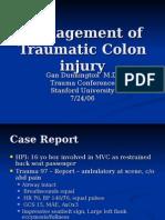 Traumatic Colon Injury