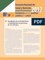 ENSANUT 2012 ActividadFisica