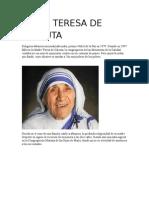 Documento Teresa de Calcuta