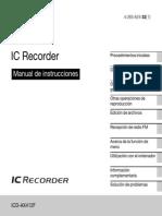 Manual Grabadora Sony Icd Ax412f En español