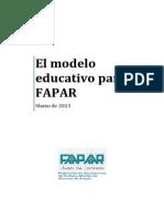 El Modelo Educativo de FAPAR