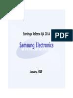 Samsung Electronics - Earnings Report 2014 Q4