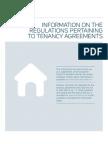 Information on the Regulations tenancy
