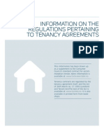 Information on the Regulations tenancy