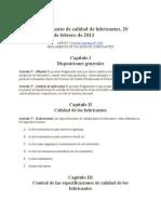 Reglamento de Los Lubricantes en Bolivia