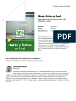 Horas y Fechas en Excel by Blade