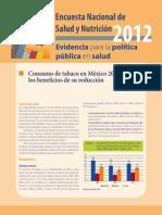 ENSANUT 2012 Consumo de Tabaco