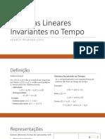 Sistemas Lineares Invariantes No Tempo