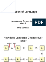 Evolution of Language Slides (1)