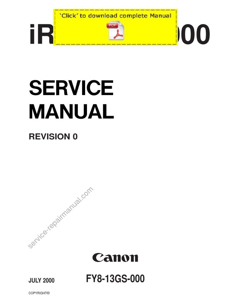 CANON IR5000 IR6000 Service Manual Pages | Troubleshooting | Exposure  (Photography)