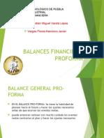 Balances Financieros Proforma