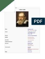 Galilei Galileo fizician, matematician, astronom
