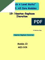 19 Newton-Raphson Iteration