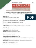 2010 Forum Program Clavis