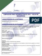 Limpiador Pino Desin. Ppu- Msds