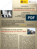 """Conferencia """"Detección de cuevas en la Tierra y Marte"""""""