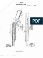 f. wesson breeching firearms patent US36925