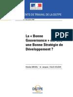 La « Bonne Gouvernance » est-elle une Bonne Stratégie de Développement ? 2007 11[1]