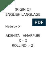 Origin of English