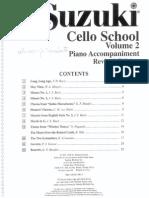 Suzuki Cello School Nº2 Con Piano