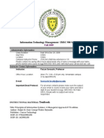 Syllabus IMSC 500 Information Syatems Technology 1Section 901 Online Fall 09