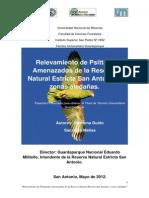 Relevamiento de Psitacidos amenazados en la RNE San Antonio y zonas Aledañas. (Misiones, Argentina)