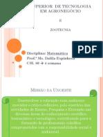 1 AulaMatematica Agro e Zoo