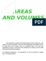 Areas and Volumes