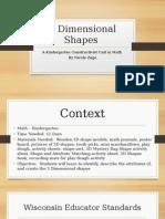 3 dimensional shapes-constructivist unit