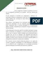 Plan de Desarrollo Municipal de Actopan, Hidalgo 2012-2016