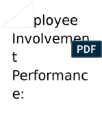 employee involvement and performance