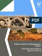 IIM Indore Final Report 2015