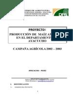 Proyecto Maiz Texto 2002