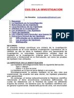 "La HIPOTESIS en La Investigaciã""n"