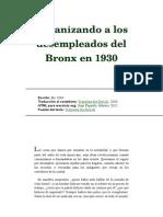 Organizando a Los Desempleados Del Bronx en 1930