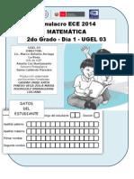 prueba de matemática 2°