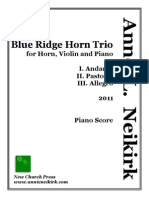 Blue Ridge Horn Trio (Piano Score)
