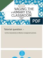 Managing the Primary Esl Classroom Tuto 1
